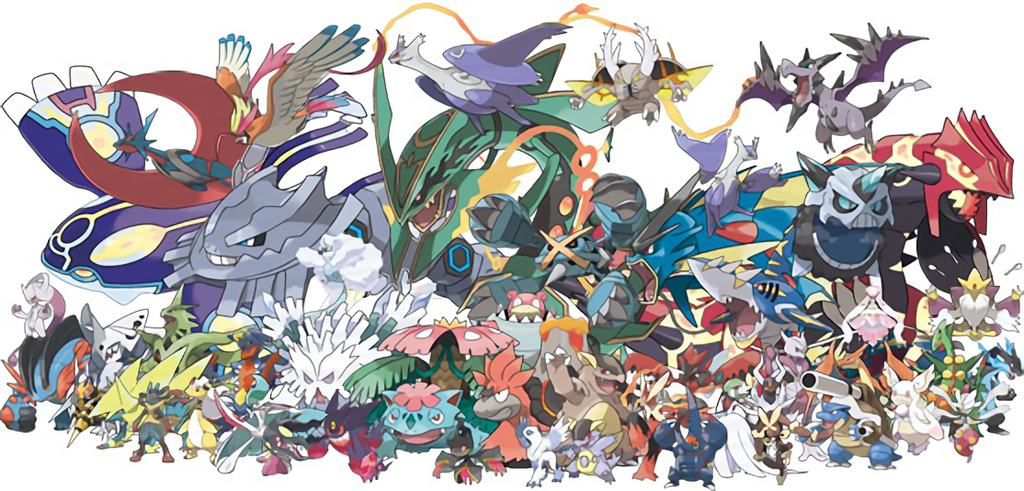 Jigsaw puzzles pokemon 20th mythicals and mega - Pokemon y mega evolution ...